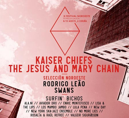 Kaiser Chiefs y The Jesus and Mary Chain al Festival Noroeste