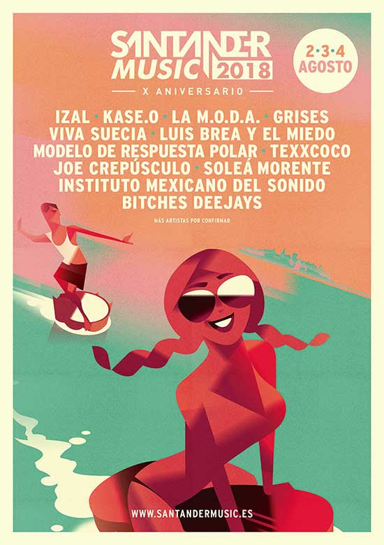 Santander Music 2018 cartel
